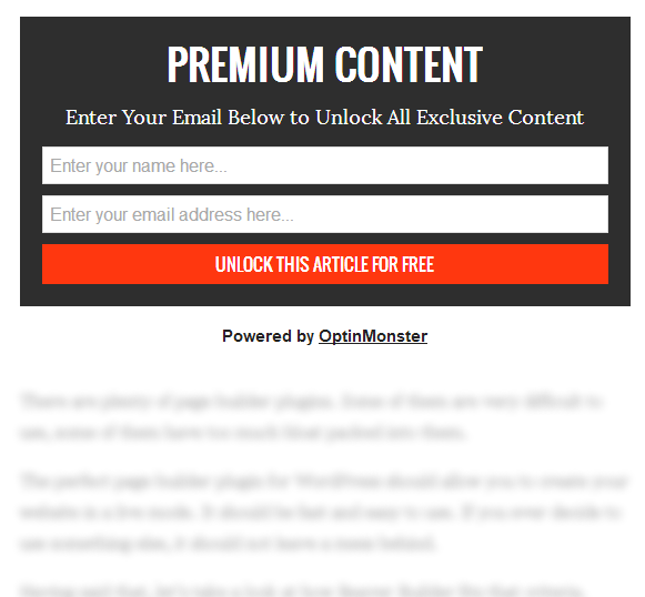 email list content locking image