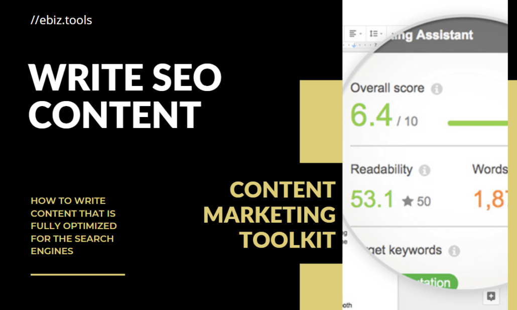 Write SEO Content with the help of a powerful content marketing toolkit