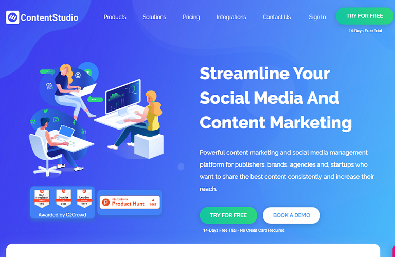 ContentStudio social media management tool