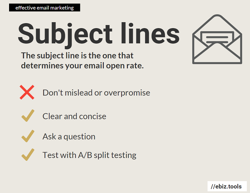 Effective Subject lines play an important role in your email open rate