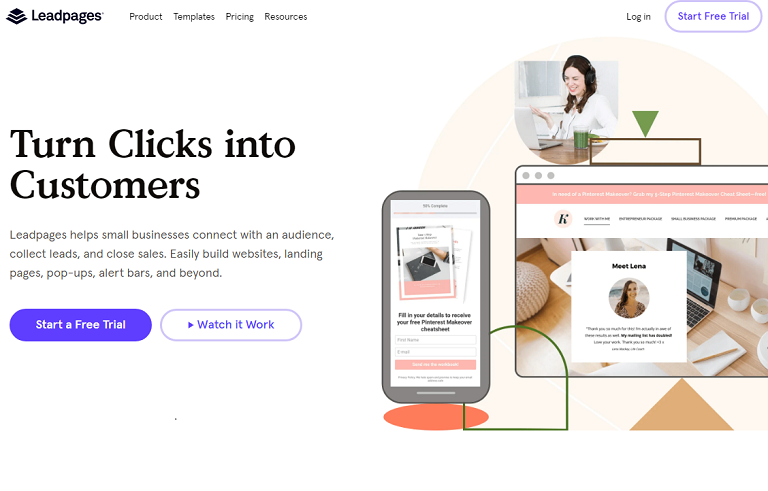 Leadpages landing page optimization