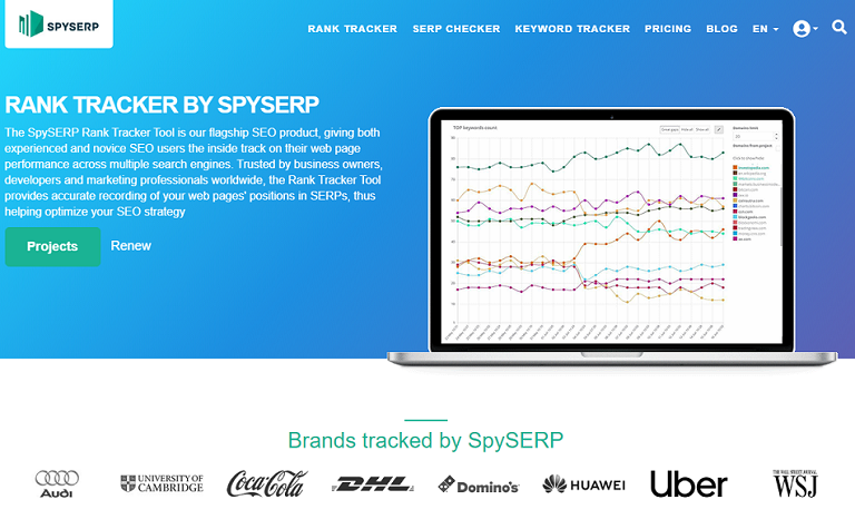 SpySerp SEO competition Analysis tool