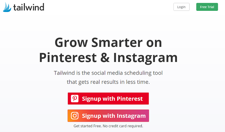 Tailwind pinterest and instagram management tool
