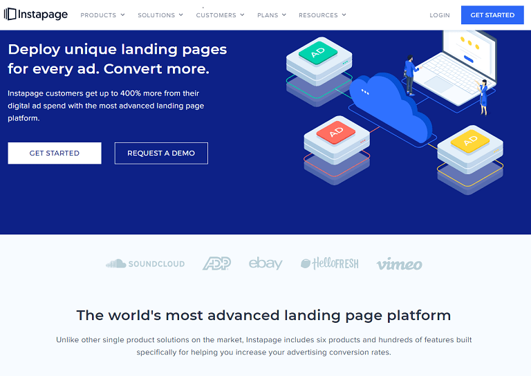 Deploy unique landing pages for every ad. Convert more. The world's most advanced landing page platform.