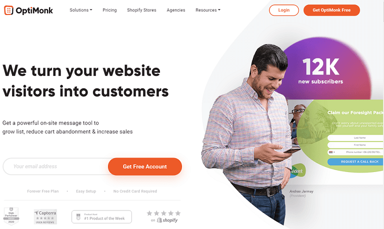 We turn your website visitors into customers