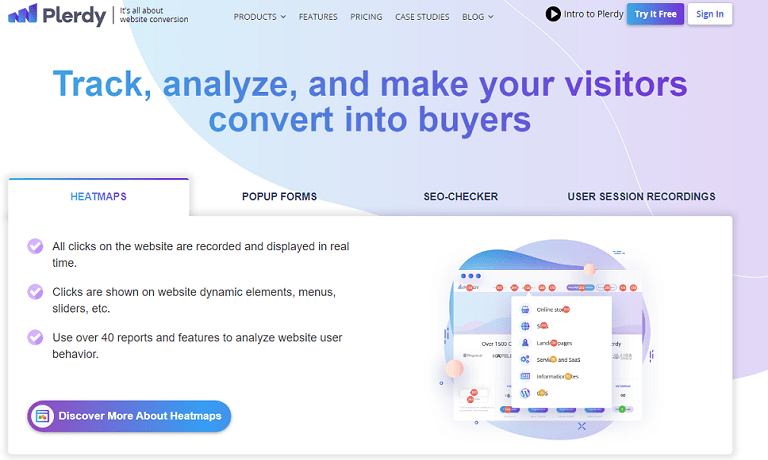Track, analyze and make your visitors convert into buyers