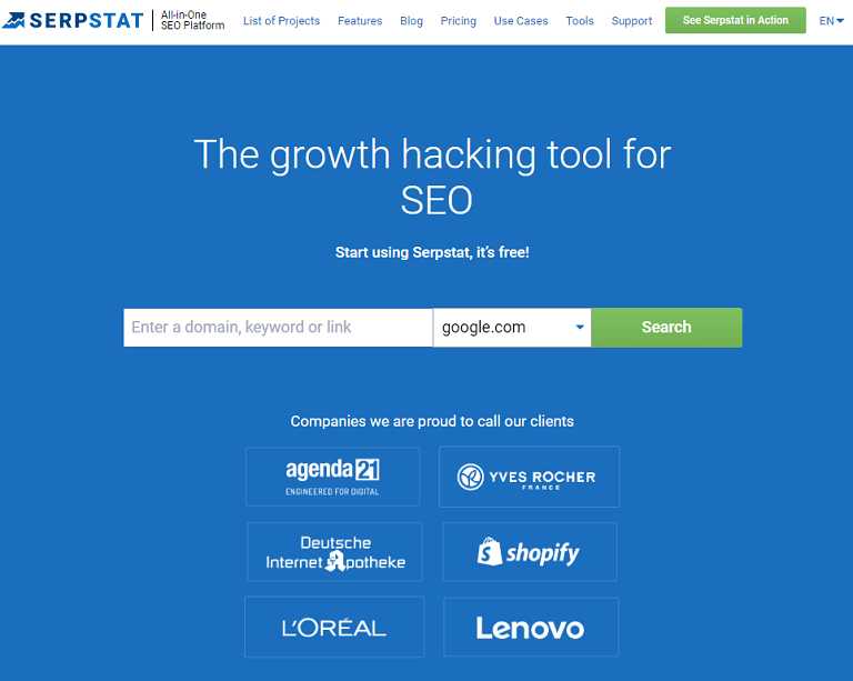 The growth hacking tool for SEO