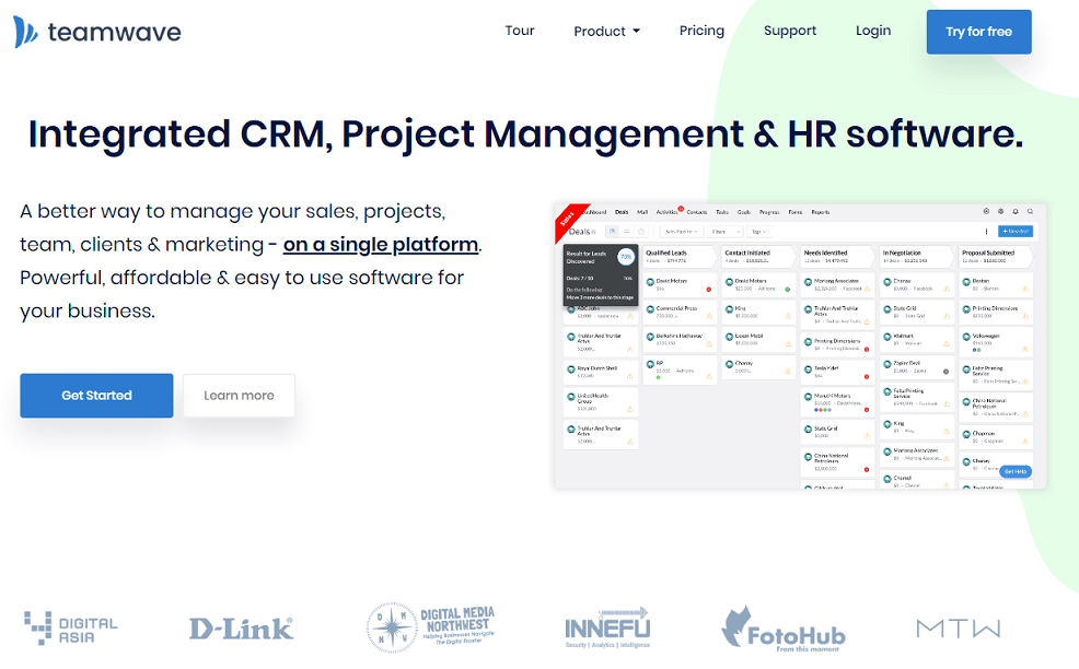 Integrated CRM, Project Management & HR software