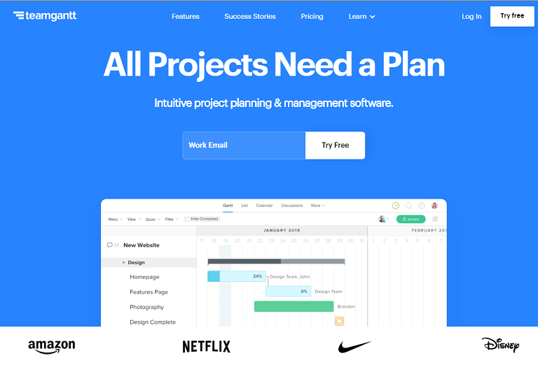 All projects need a plan. Intuitive project planning and management software