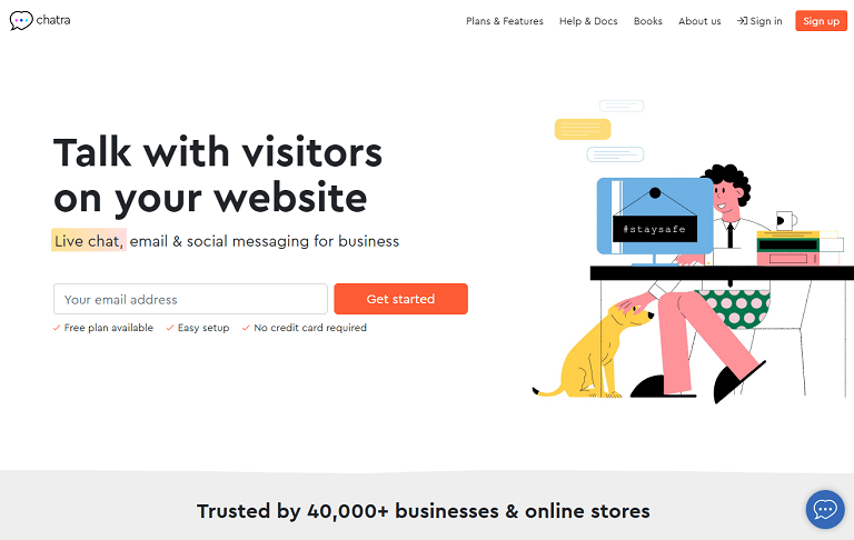 Talk with customers on your website. Live chat, email and social messaging for business