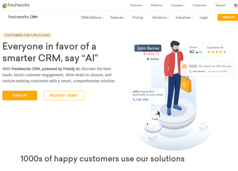 "Everyone if favor of a smarter CRM say ""AI"""