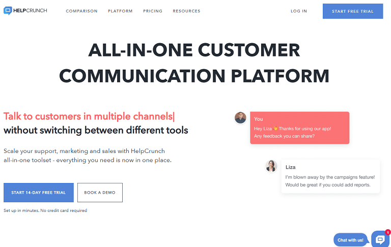 All-in-one customer communication platform