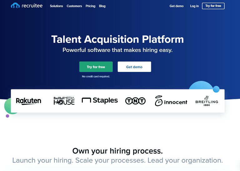 Talent Acquisition Platform. Powerful software that makes hiring easy